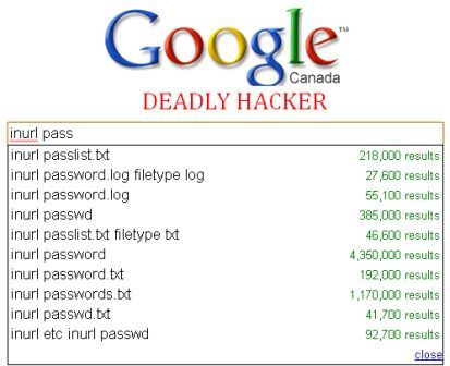 List of google dorks for sql injection | Deadly Hacker